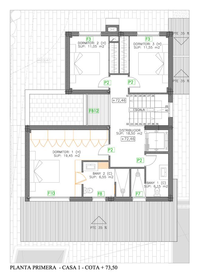 Planta Primera Casa 1
