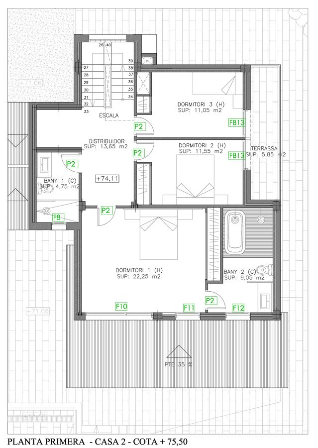Planta Primera Casa 2