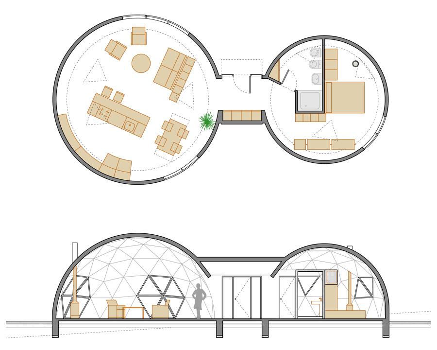 Planta vivienda circular