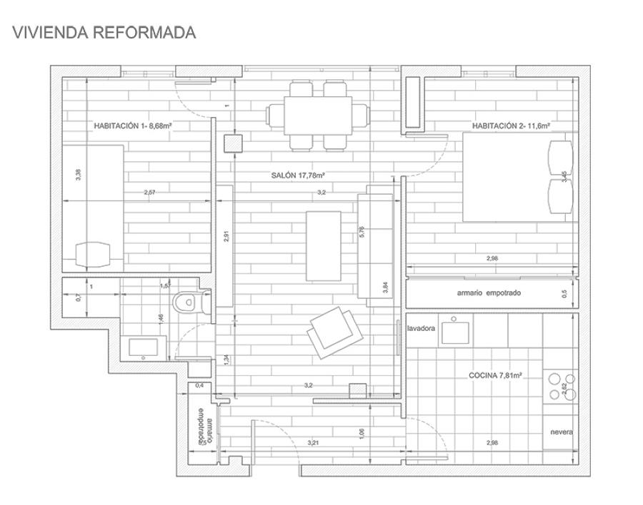 Planta vivienda reformada