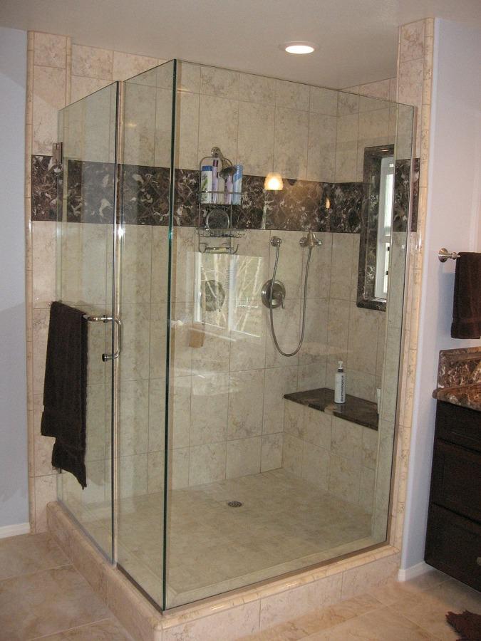 Foto plato de ducha de obra con mampara de - Fotos de duchas de obra ...