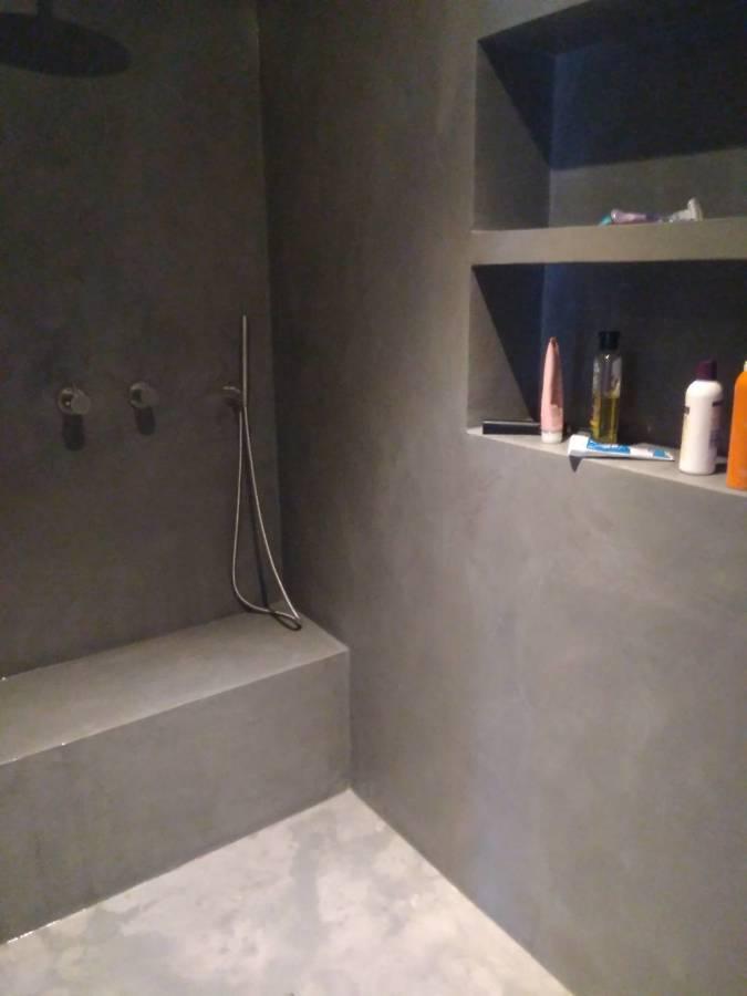 Plato de ducha en Microcemento