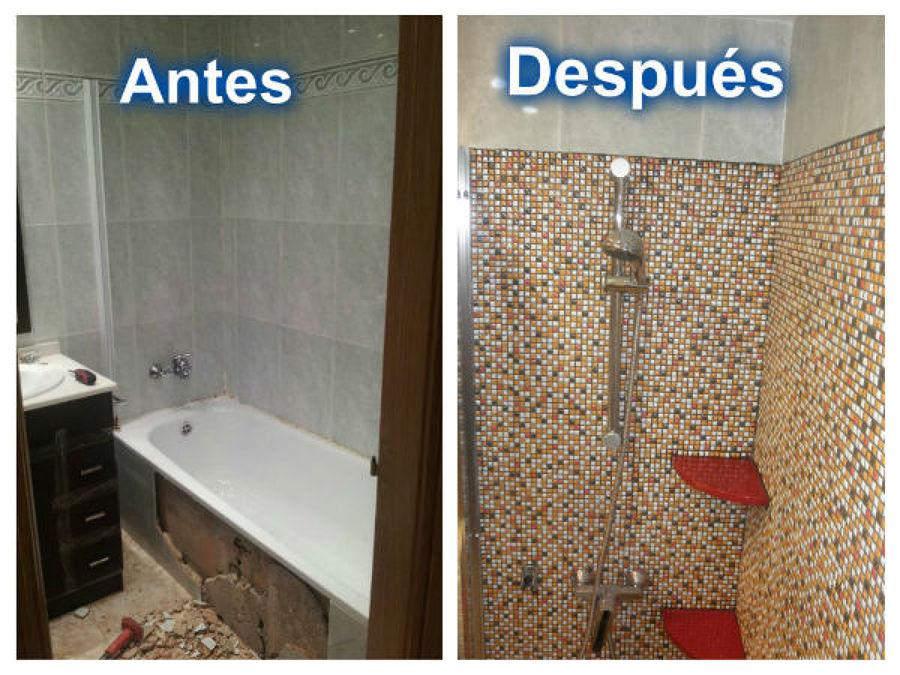 Plato de ducha prefabricado y hecho a mano medidas a elegir ideas reformas viviendas - Ducha sin plato ...