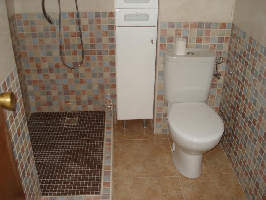 Plato de obra y wc
