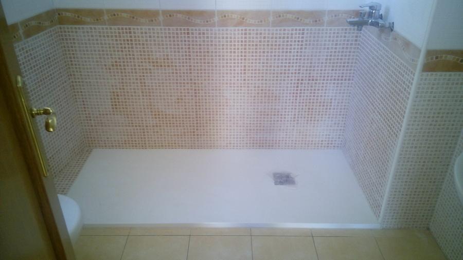 Foto plato ducha de carga mineral terminaci n pizarra de - Platos de ducha carga mineral ...
