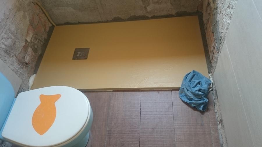 Foto plato ducha de pizarra roca color arena de reformas - Plato ducha roca ...