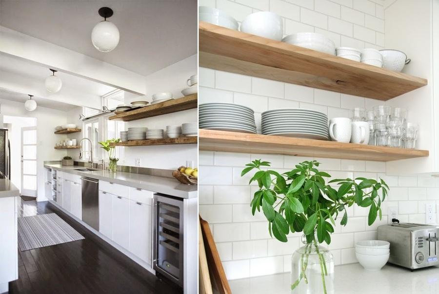 Estanterias de cocina en este caso han usado la estantera - Ikea baldas cocina ...