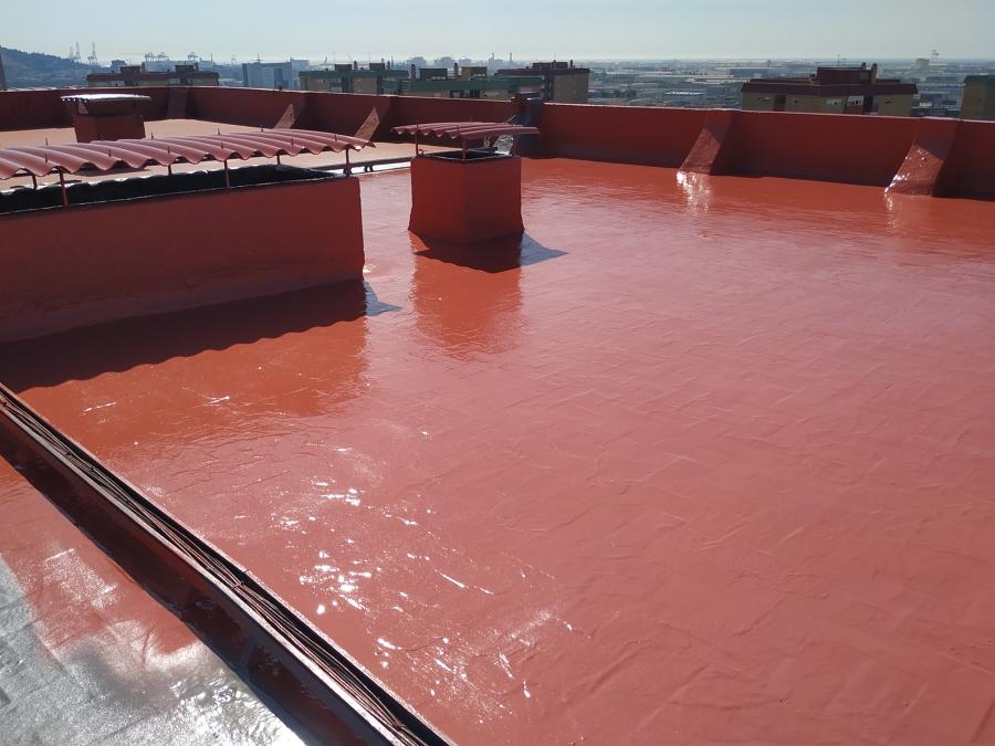 Poliurea en terraza