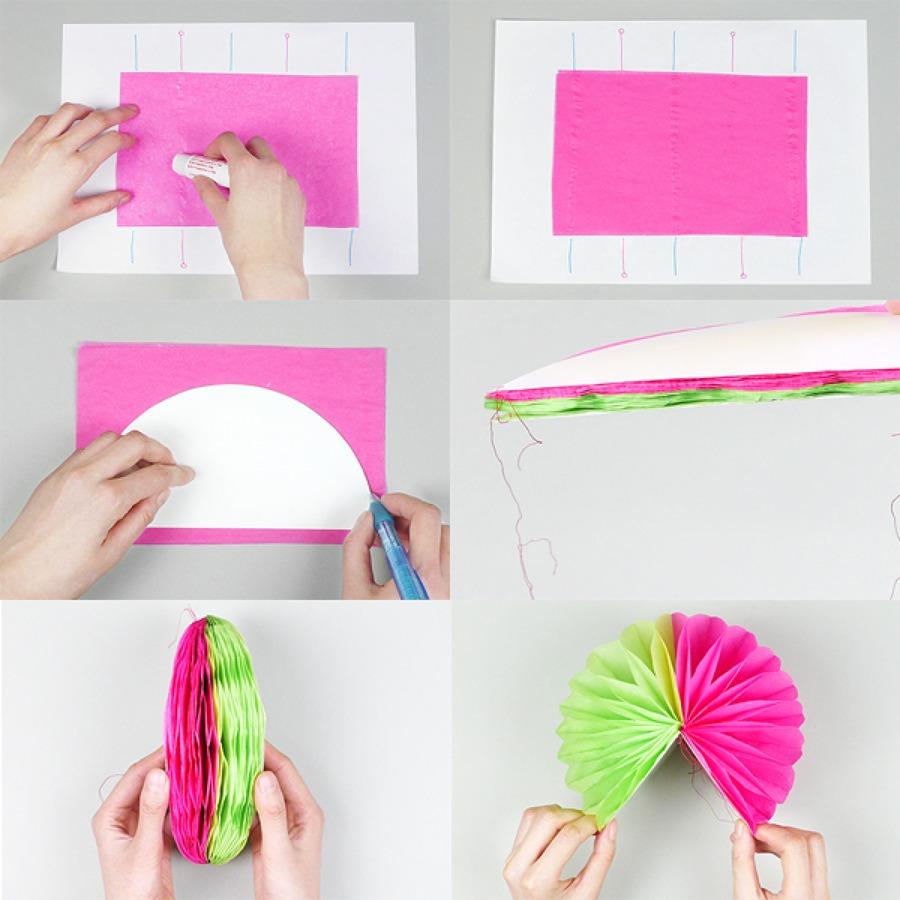 Hazlo t mismo pompones de papel seda para decorar - Como se hacen los pompones ...