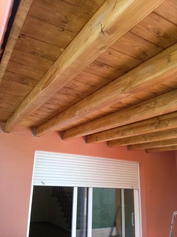 Porche en madera maciza