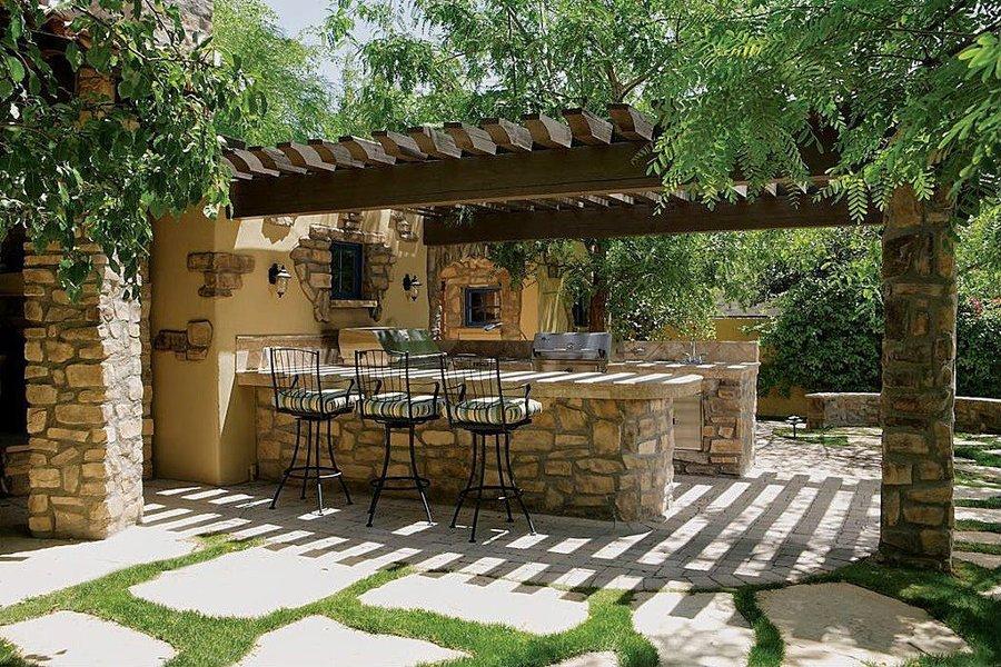 Porches de madera para patios y jardines en tenerife - Porches con barbacoa ...