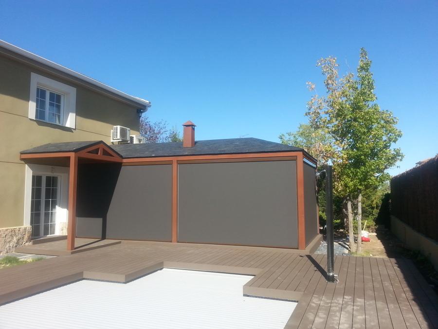 Foto porche vista exterior toldos verticales - Toldos verticales para exterior ...