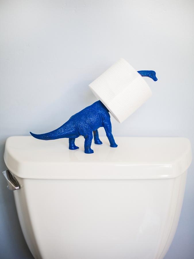 portarrollos dinosaurio