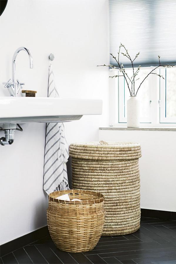 cestos rafia para baño