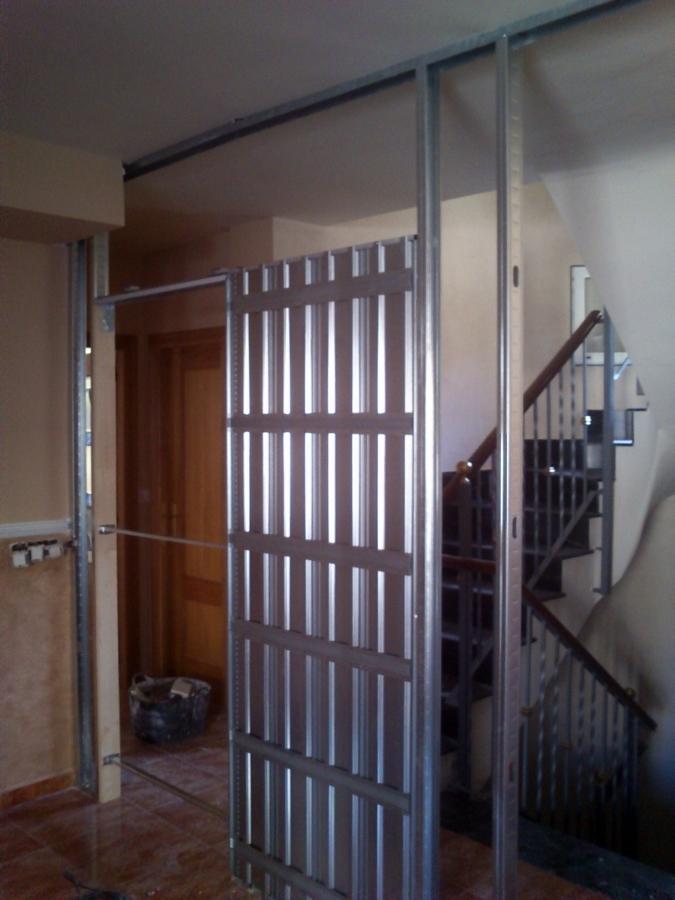 Separacion comedor escalera ideas pladur - Puerta corredera pladur ...