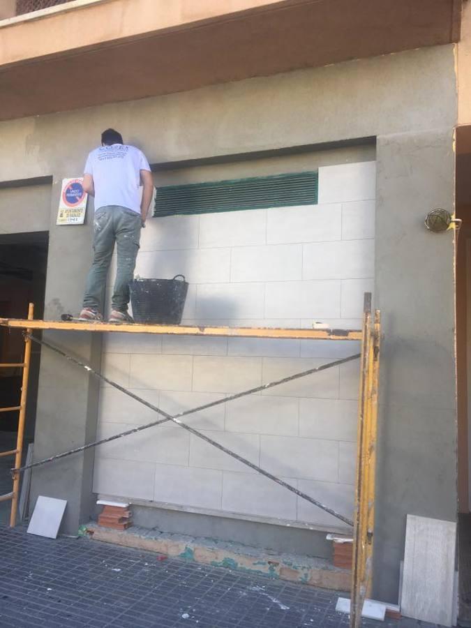 Preparación de fachada y revestimiento