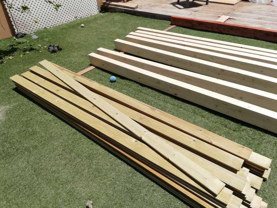 preparación de la madera
