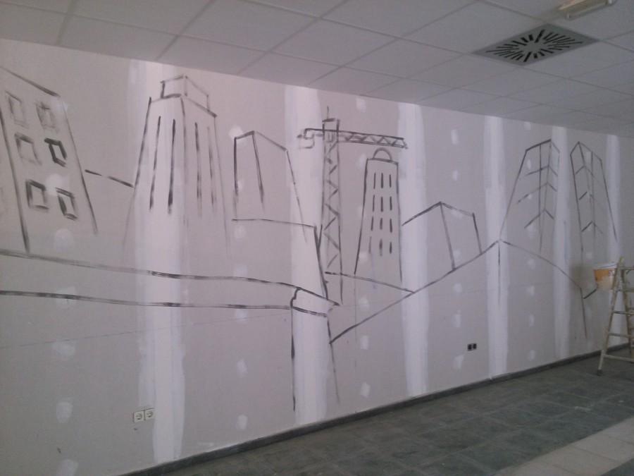 Preparación de mural