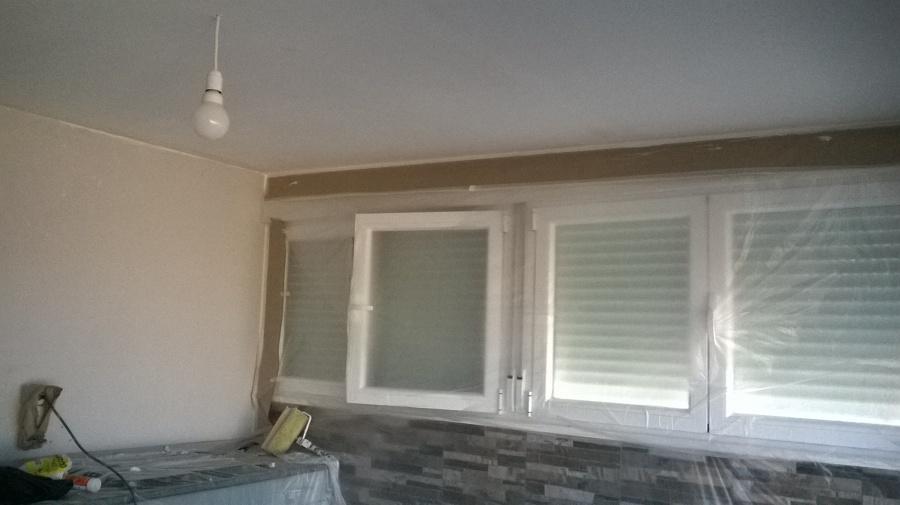Preparación de superficies a aislar y decorar.