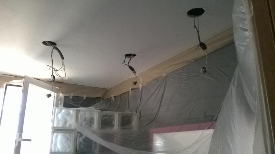 Preparación de techo y realizar agujeros nuevos.