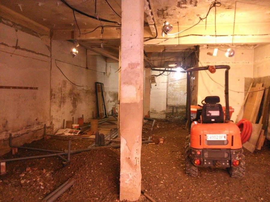 Preparación del local. Demolición y acondicionado de terreno