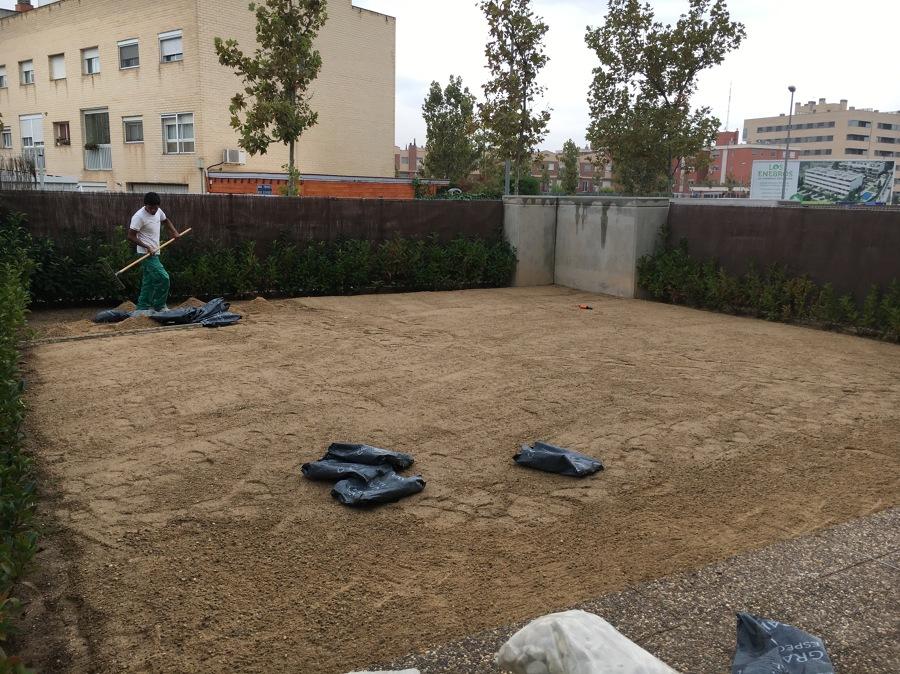 Preparación del terreno.