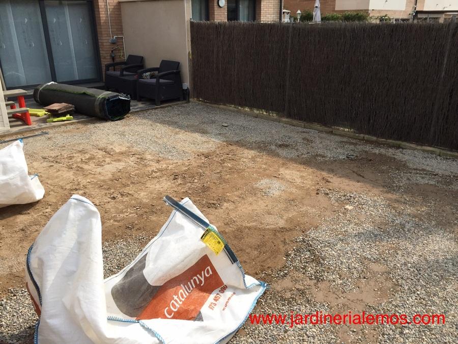 Preparación del terreno drenante