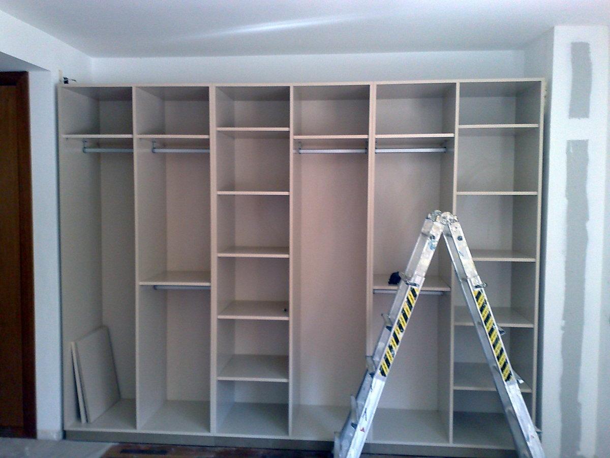 Preparación interior armario.