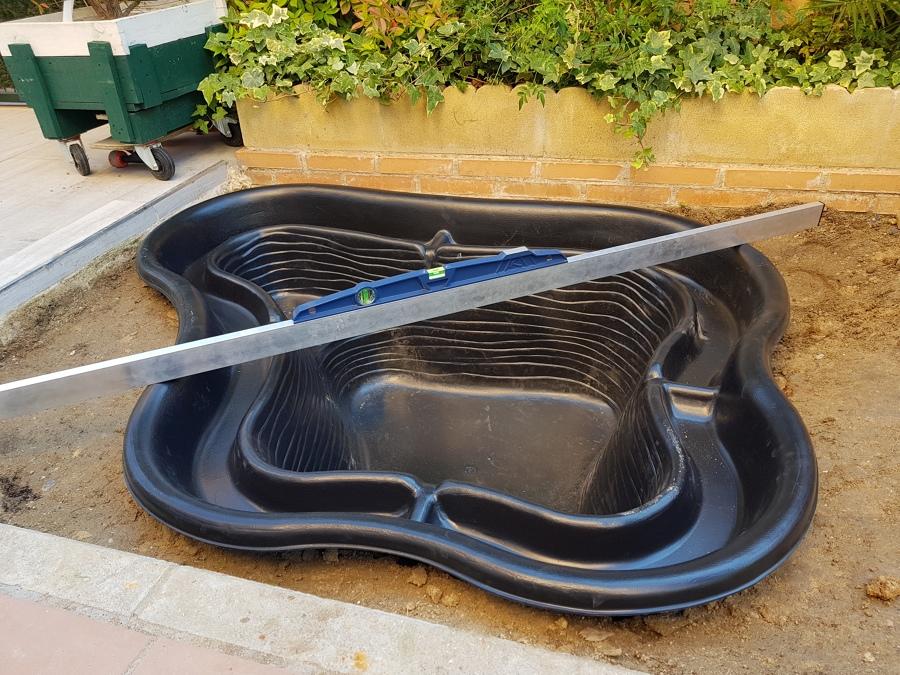 Preparacion para poner estanque PVC