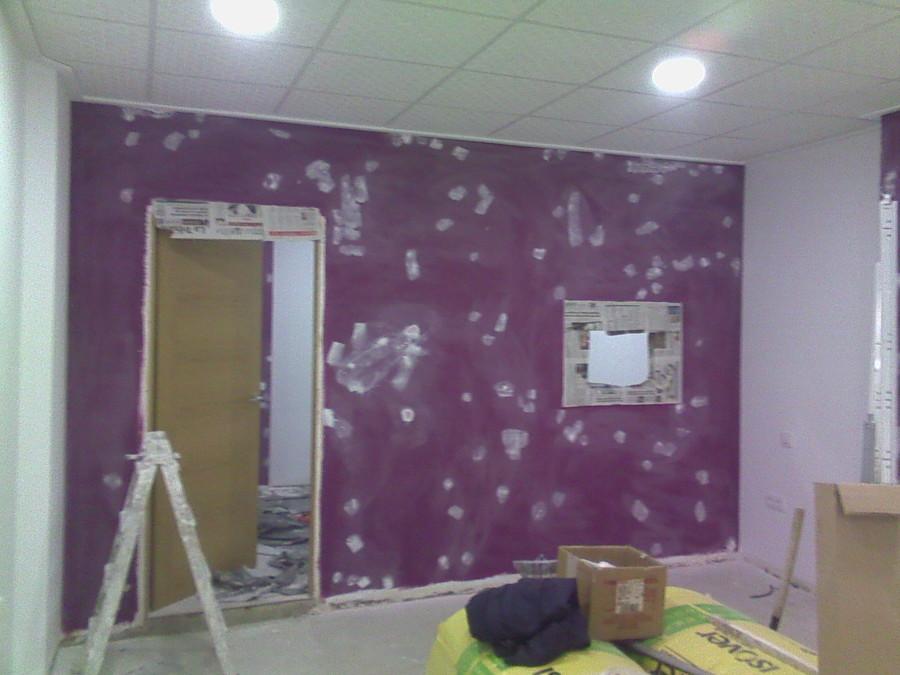 Foto preparando las paredes de pintores de albacete ja - Pintores de paredes ...