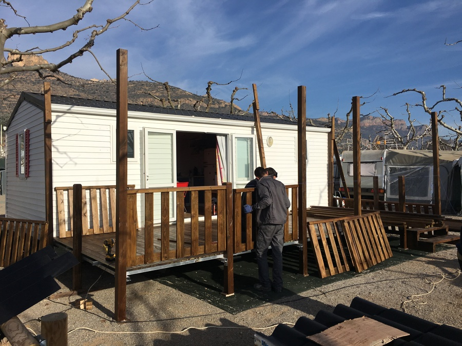 Proceso montaje terraza