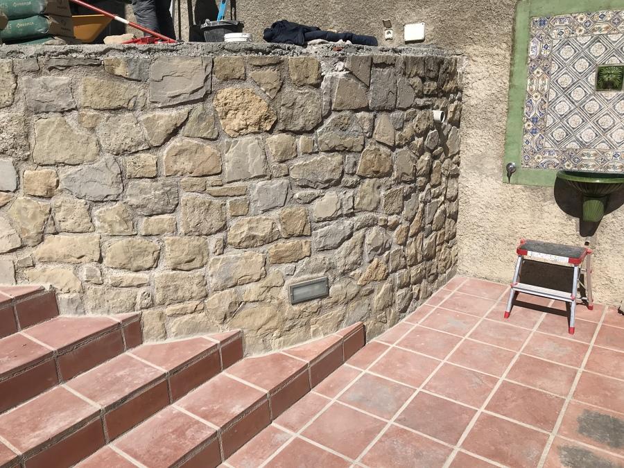 Proceso rehabilitación punto redondo terraza