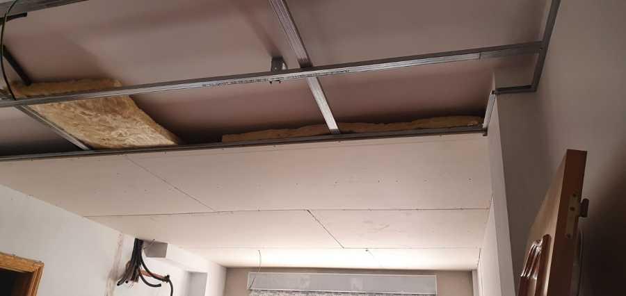Proceso techo pladur - Aislamiento