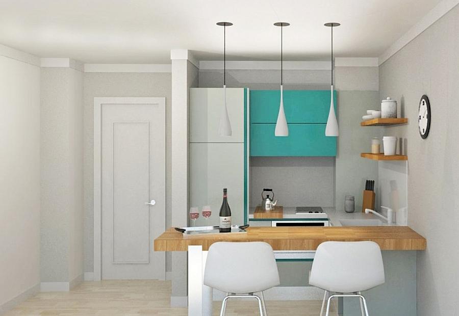 Propuesta cocina de 2 a 3 m2