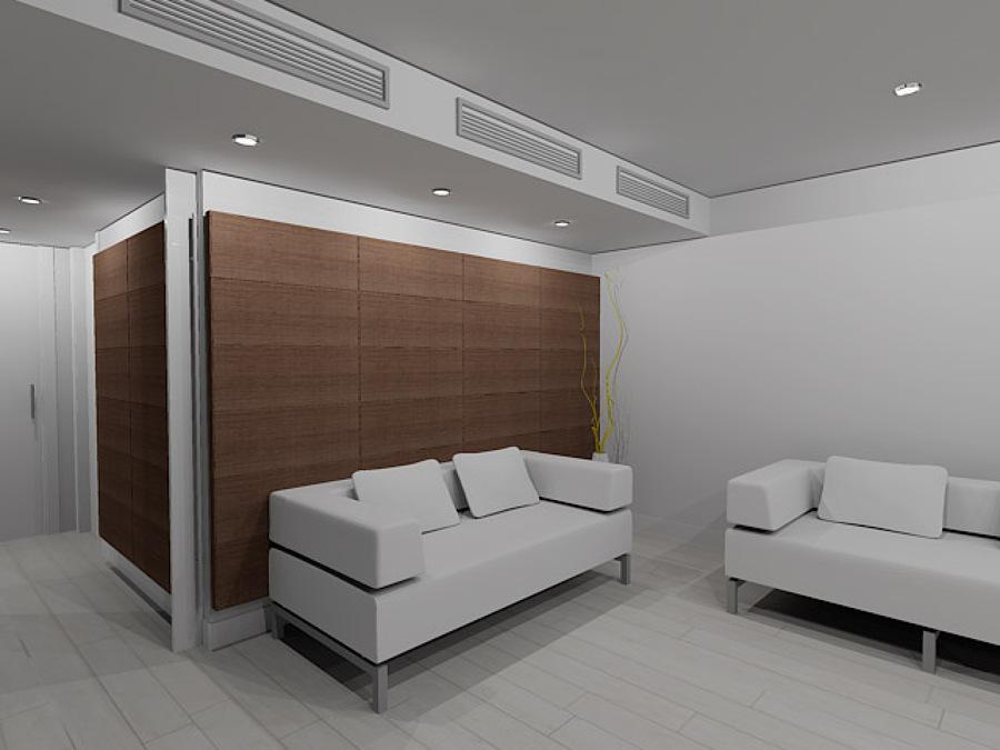 Propuesta de Salón y forrado de paredes 3D