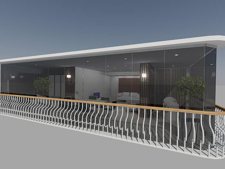 Propuesta en 3D de cerramiento de terraza
