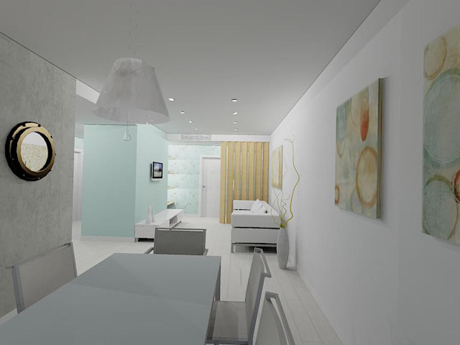 Propuesta en 3D :Recibidor-Salón