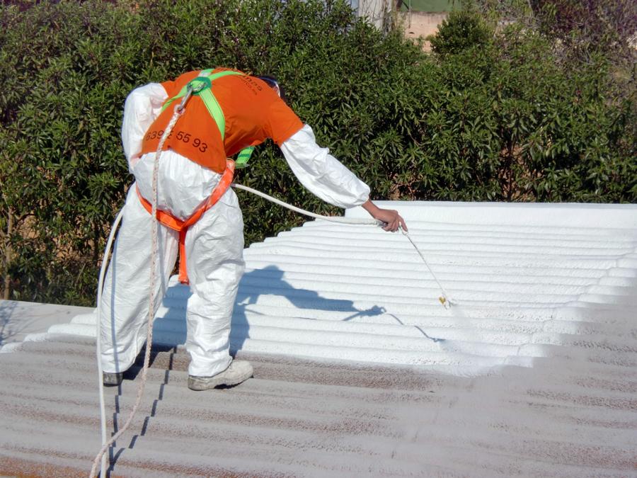 proyeccion de caucho en cubierta ondulada