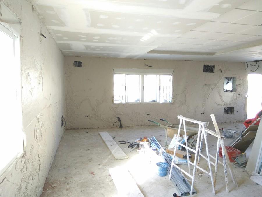 Proyección de yeso en paredes