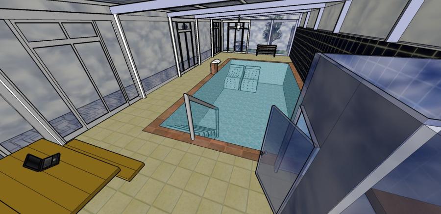 Proyecto b sico y de ejecuci n para piscina de vivienda for Proyecto de piscina