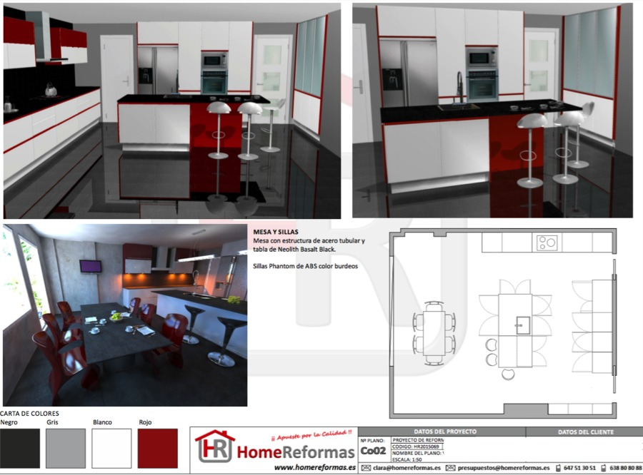 Proyecto y reforma integral de cocina ideas reformas for Proyecto cocina