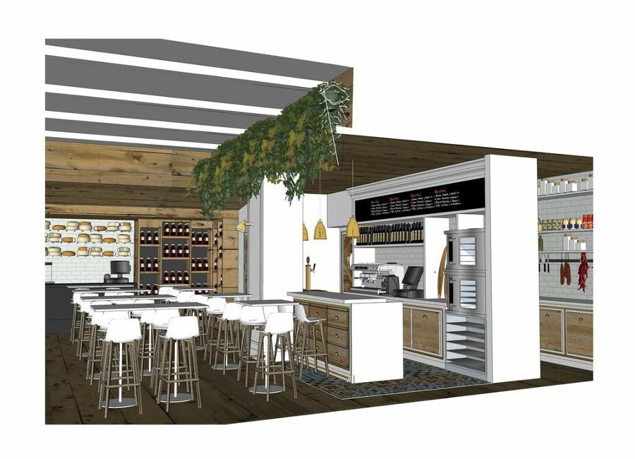 Proyecto de bar restaurante fromagerie en madrid ideas - Proyecto bar cafeteria ...