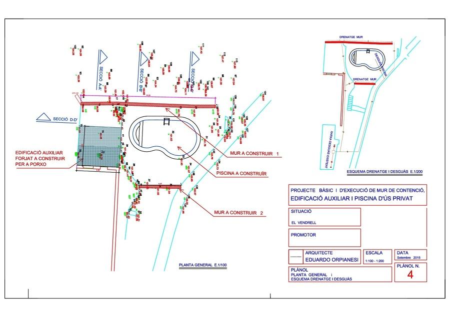 Proyecto de construcci n de muros de contenci n piscina privada y construcci n anexa ideas - Proyecto piscina privada ...