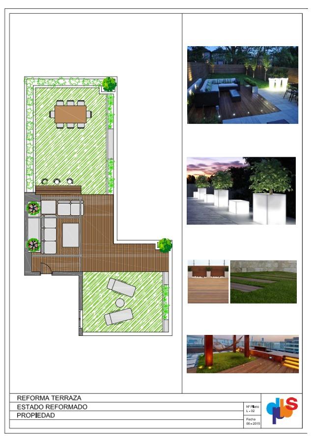 Proyecto de decoracion de terraza ideas arquitectos for Proyectos de decoracion