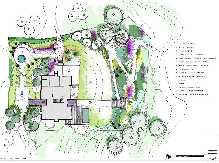 Foto proyecto de dise o de jard n de la habitaci n verde for Proyecto jardineria