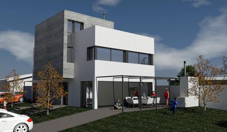 Proyecto de dos viviendas en propiedad horizontal.