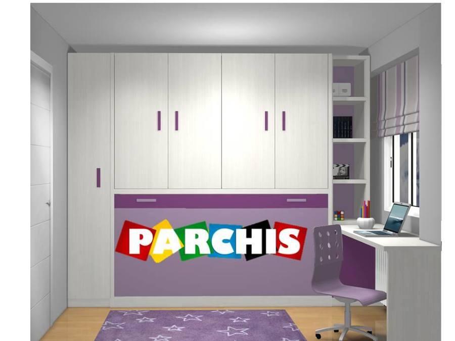 Habitacion juvenil con cama abatible en hortaleza madrid - Habitacion juvenil cama abatible ...