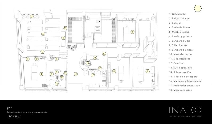 Proyecto de Interiorismo Corporativo - Clínica de Fisioterapia - Logroño