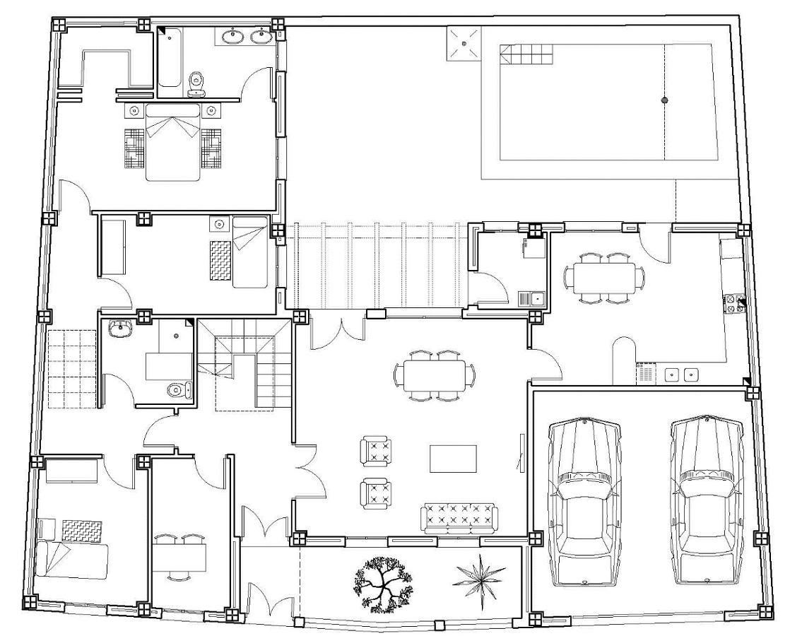 Proyecto vivienda unifamiliar piscina y garaje ideas - Proyecto puerta de garaje ...