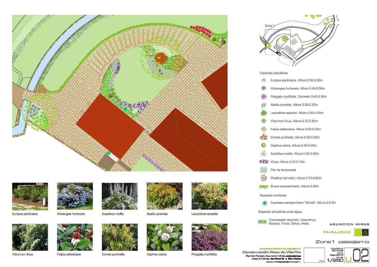 Proyecto de zona verde en viviendas de piedra